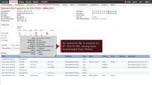 مسیر حرکت مربوط به فایل اصلی دانلود شده توسط توسط فایرفاکس را نشان می دهد