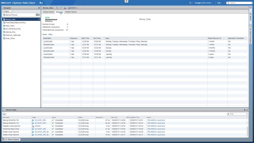 سیاست های بکاپ در VMware